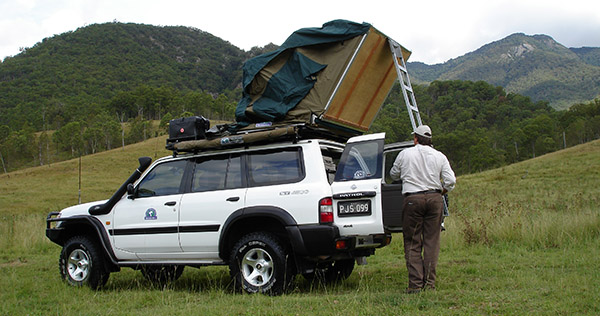 Hannibal Safari Equipment rooftop tents set up in minutes